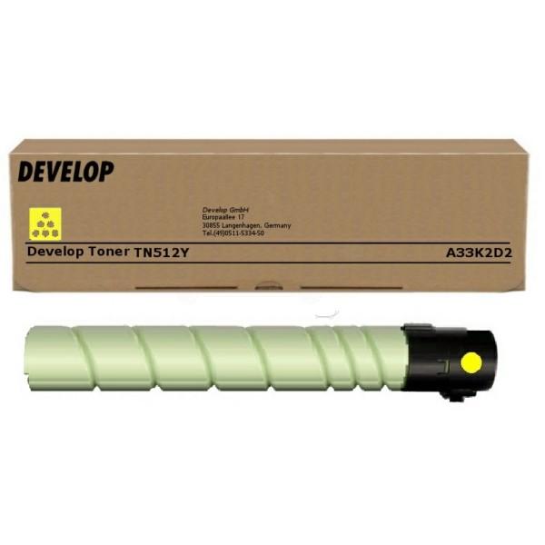 Original Develop A33K2D2 / TN-512 Y Toner gelb 35.000 Seiten