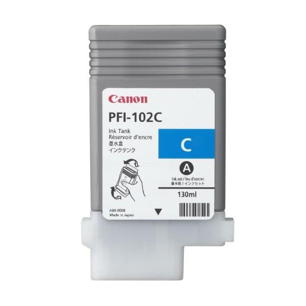Original Canon 0896B001 / PFI-102 C Tintenpatrone cyan 130 ml