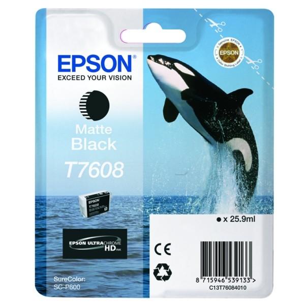 Original Epson C13T76084010 / T7608 Tintenpatrone schwarz matt 25,9 ml 1.100 Seiten