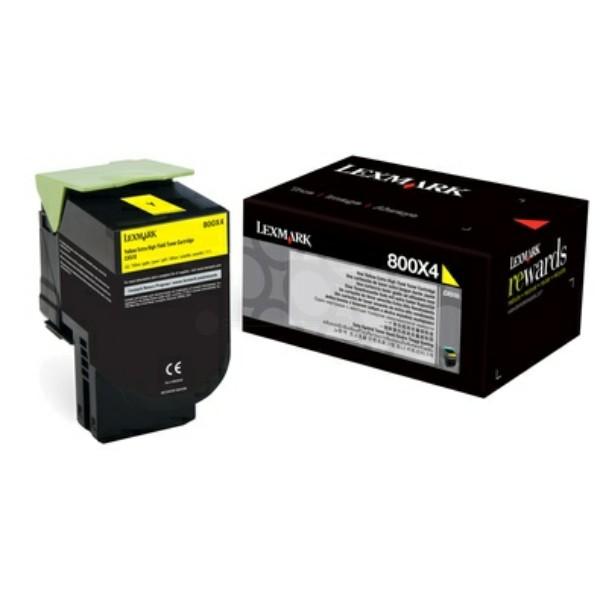 Original Lexmark 80C0X40 / 800X4 Toner-Kit gelb 4.000 Seiten