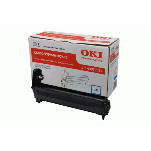 Original OKI 43870023 Drum Kit cyan 20.000 Seiten