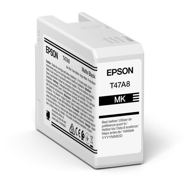 Original Epson C13T47A800 / T47A8 Tintenpatrone schwarz matt 50 ml