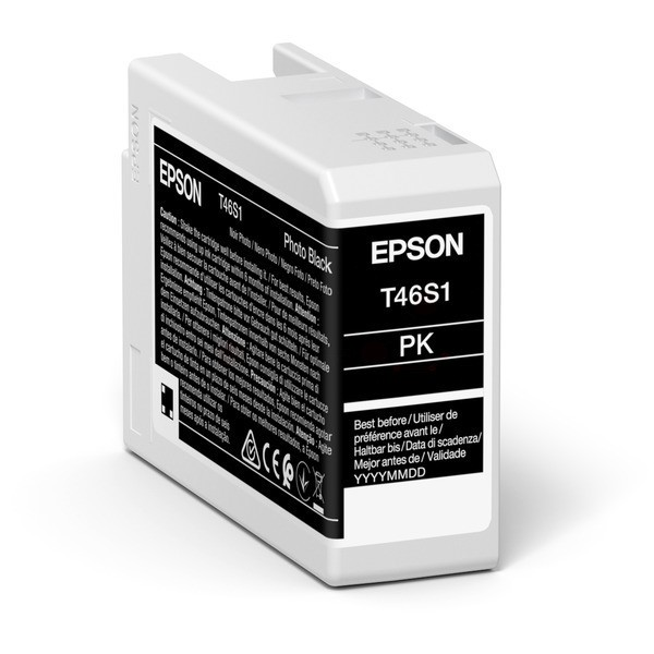 Original Epson C13T46S100 / T46S1 Tintenpatrone schwarz 25 ml