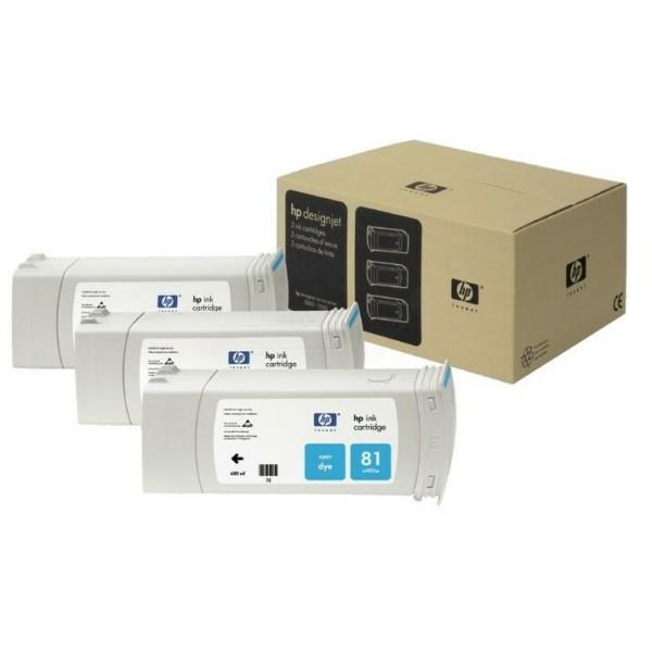 Original HP C5067A / 81 Tintenpatrone cyan 680 ml 1.000 Seiten