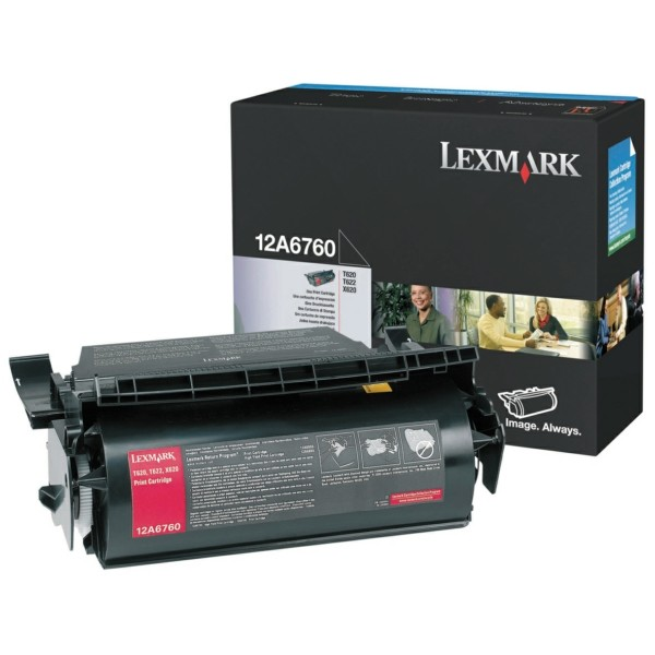Original Lexmark 12A6760 Tonerkartusche schwarz 10.000 Seiten