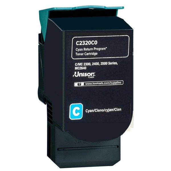 Original Lexmark C2320C0 Toner-Kit cyan return program 1.000 Seiten