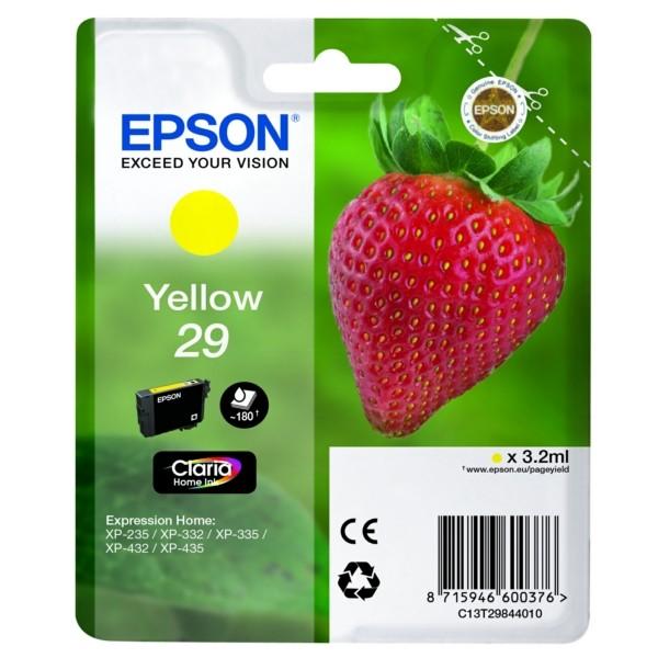 Original Epson C13T29844012 / 29 Tintenpatrone gelb 3,2 ml 180 Seiten