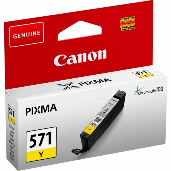 Original Canon 0388C001 / CLI-571 Y Tintenpatrone gelb 7 ml 323 Seiten