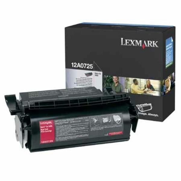 Original Lexmark 12A0725 Tonerkartusche schwarz 23.000 Seiten