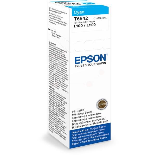 Original Epson C13T66424A / T6642 Tintenpatrone cyan 70 ml 6.500 Seiten