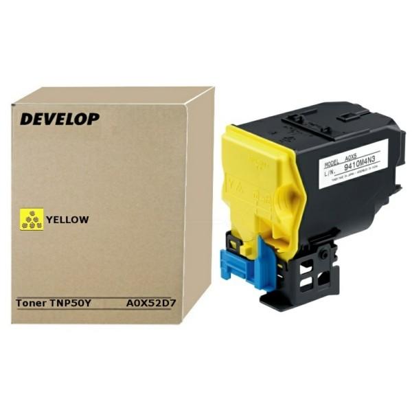 Original Develop A0X52D7 / TNP-50 Y Toner-Kit gelb 5.000 Seiten