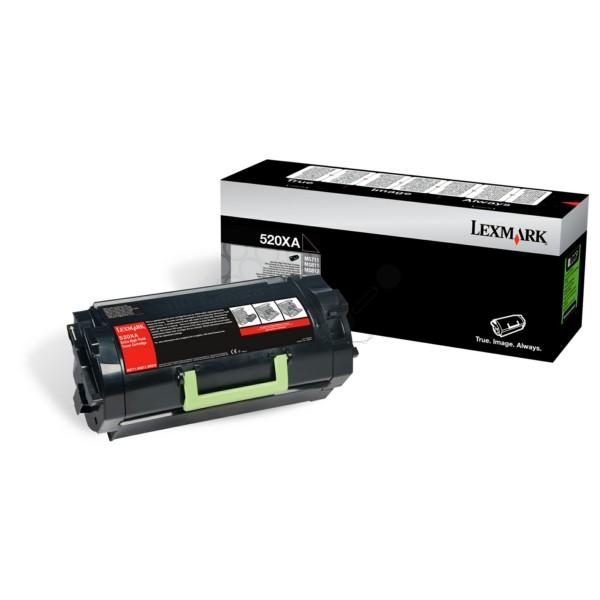 Original Lexmark 52D0XA0 / 520XA Toner-Kit schwarz 45.000 Seiten