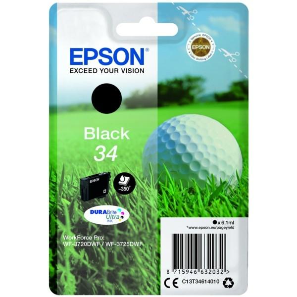 Original Epson C13T34614010 / 34 Tintenpatrone schwarz 6,1 ml 350 Seiten