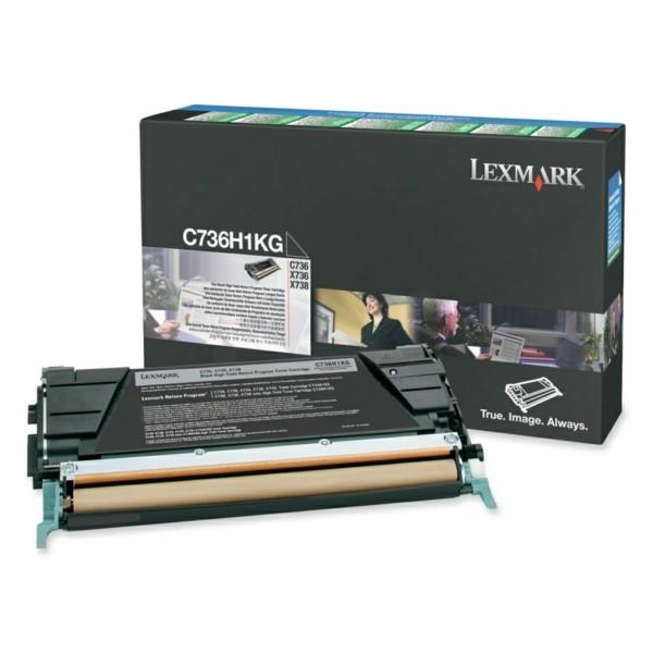 Original Lexmark C736H1KG Toner-Kit schwarz return program 12.000 Seiten
