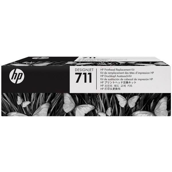 Original HP C1Q10A / 711 Druckkopf + Tintenpatrone Bk,C,M,Y 12 ml