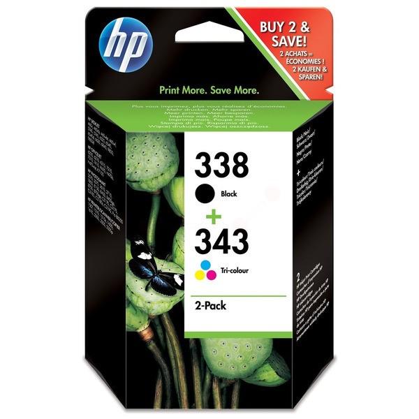 Original HP SD449EE / 338+343 Druckkopfpatrone Multipack schwarz + color 11ml+7ml