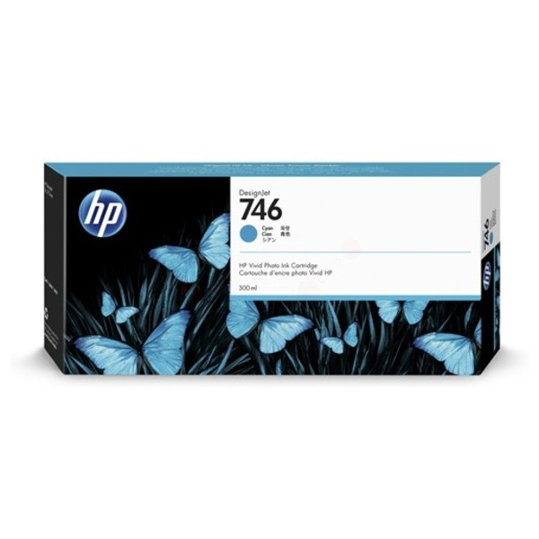 Original HP P2V80A / 746 Tintenpatrone cyan 300 ml