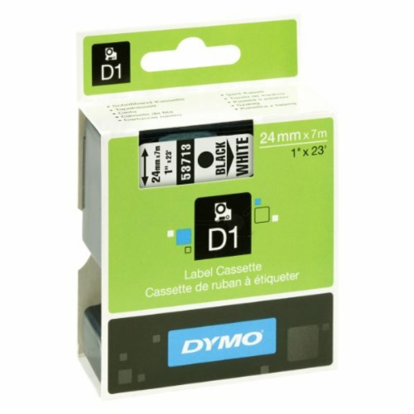 Original Dymo 53713 / S0720930 DirectLabel-Etiketten schwarz auf weiss