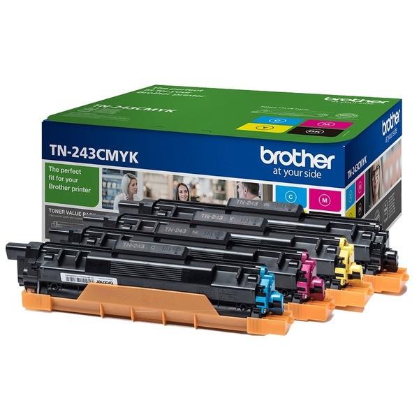 Original Brother TN243CMYK Toner MultiPack Bk,C,M,Y 1.000 Seiten