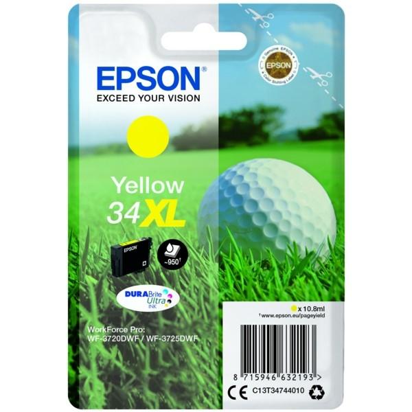 Original Epson C13T34744010 / 34XL Tintenpatrone gelb 10,8 ml 950 Seiten